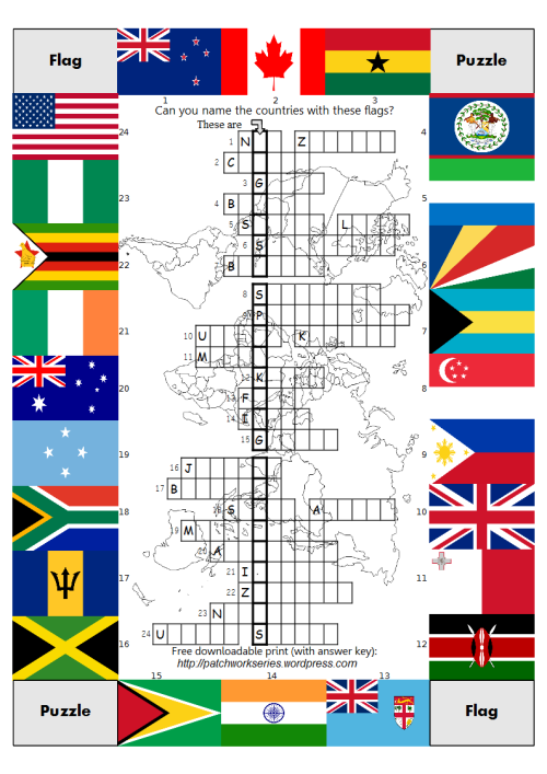 Patchwork Series Flag Puzzle